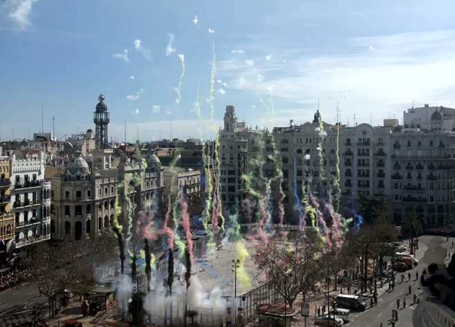 Fallas in Valencia - Mascletá